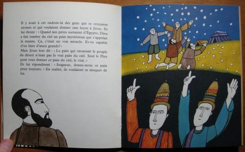 Jésus nous donne le pain, texte de A.M.Cocagnac, images d'Alain Le Foll, Editions du Cerf, 1966, Les Albums de l'arc-en-ciel, n°19.